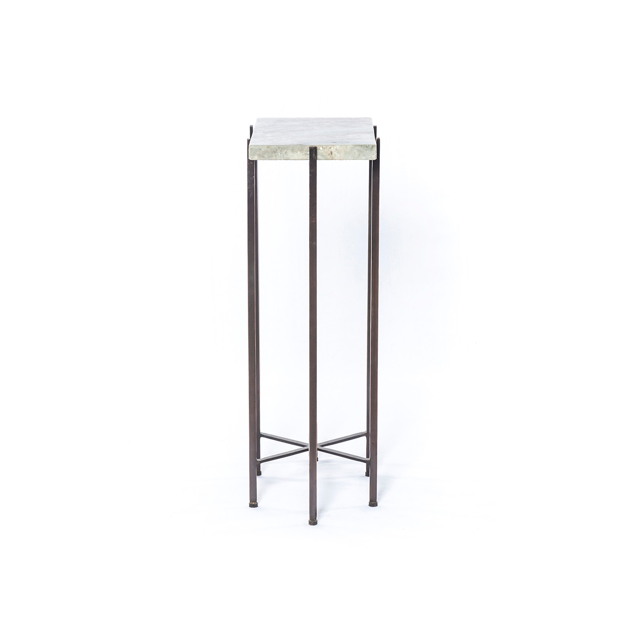 Kieran Accent Table - Ash Brown Marble