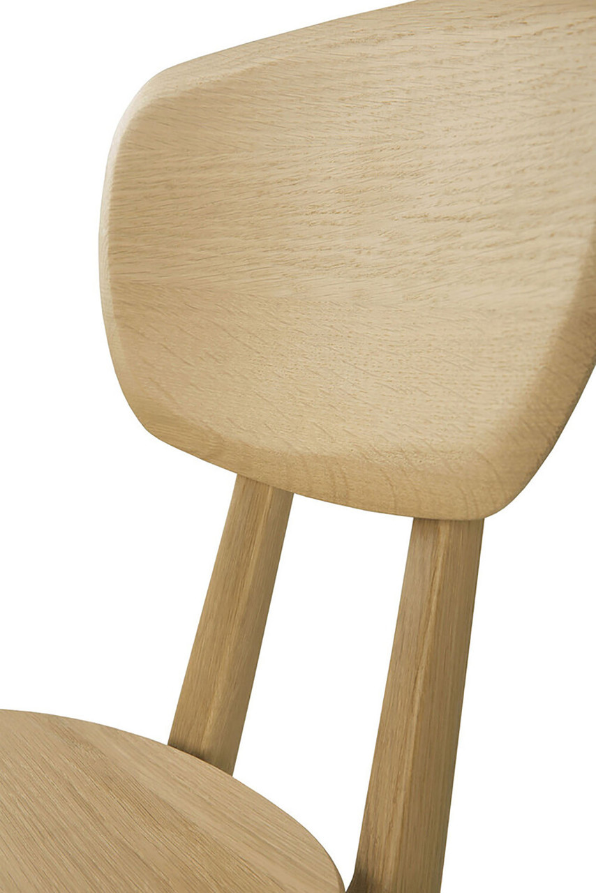 Oak Pebble Dining Chair - Varnished