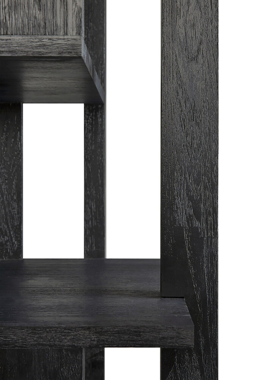 Teak Abstract Black Column - Varnished
