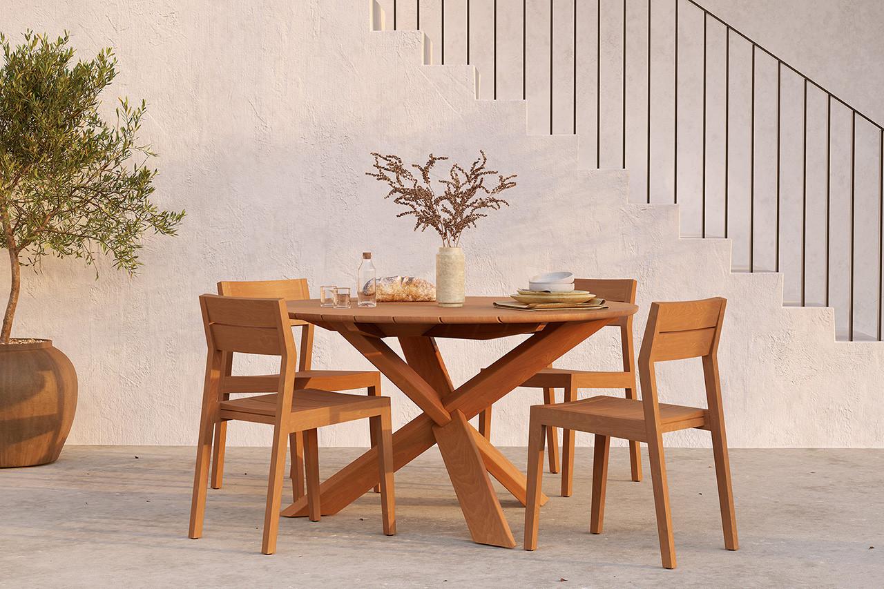 Teak Circle Outdoor Dining Table