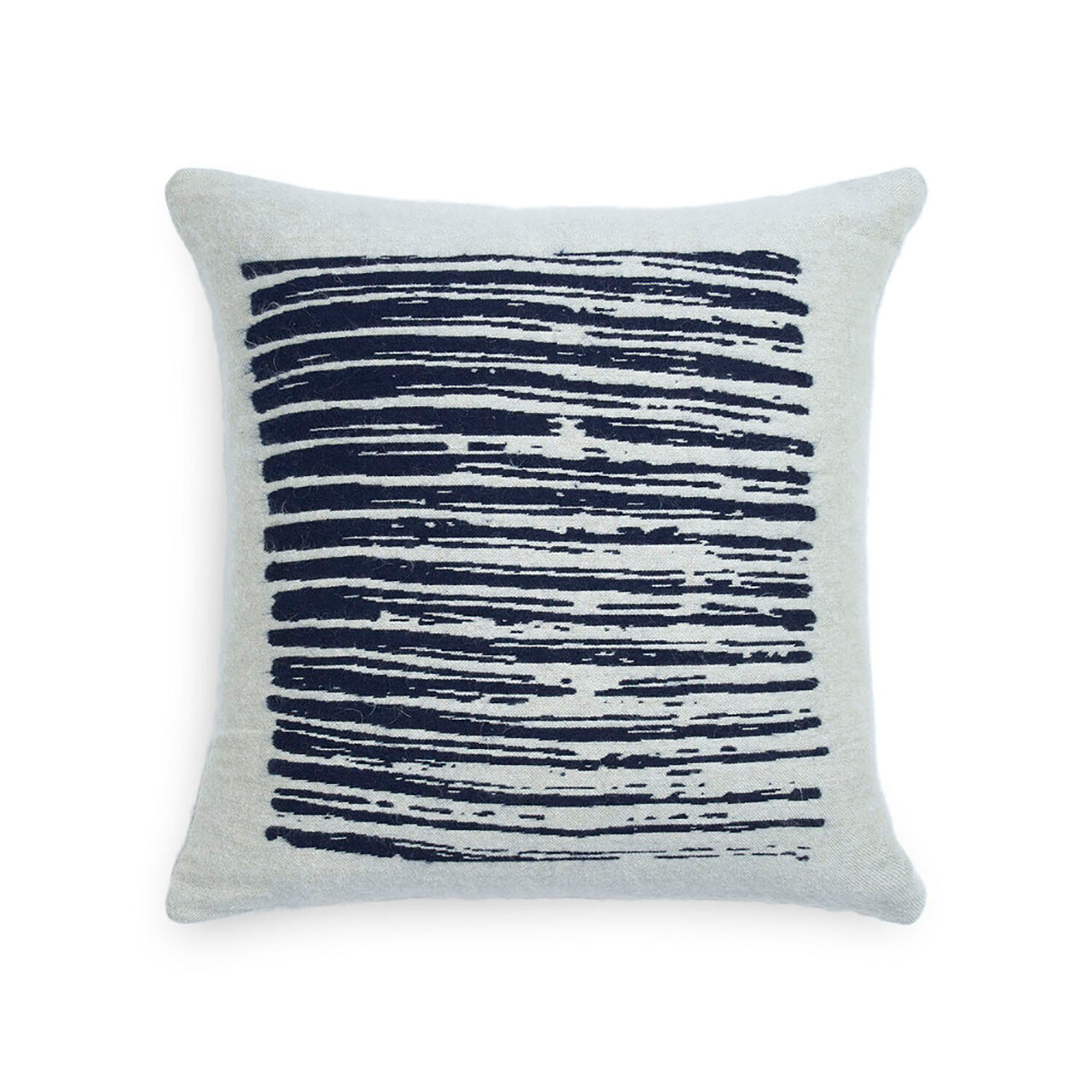 White/Navy Lines Pillow - Square