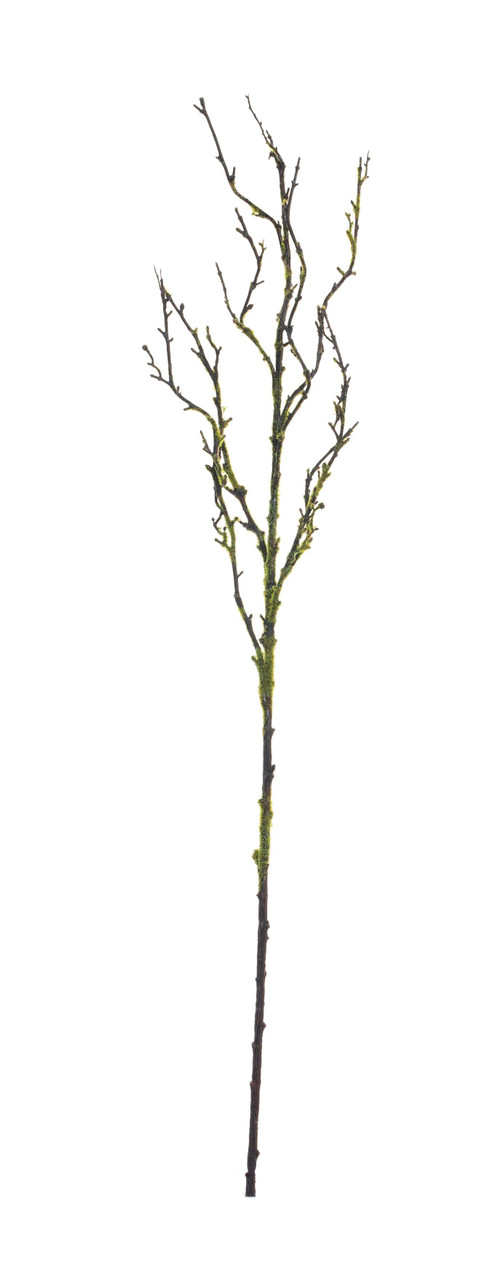 Faux Wood Branch w/Green Moss