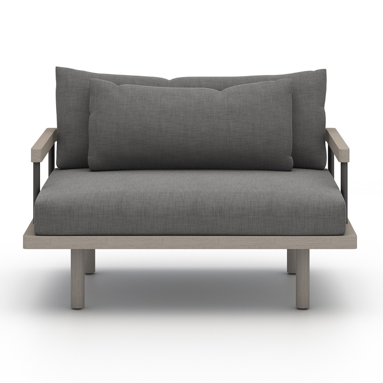 Nise Outdoor Lounge Chair - Weathered Grey