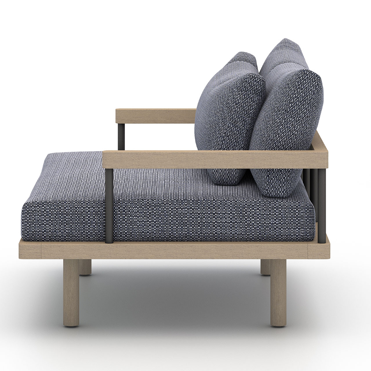 Nise Outdoor Lounge Chair - Washed Brown