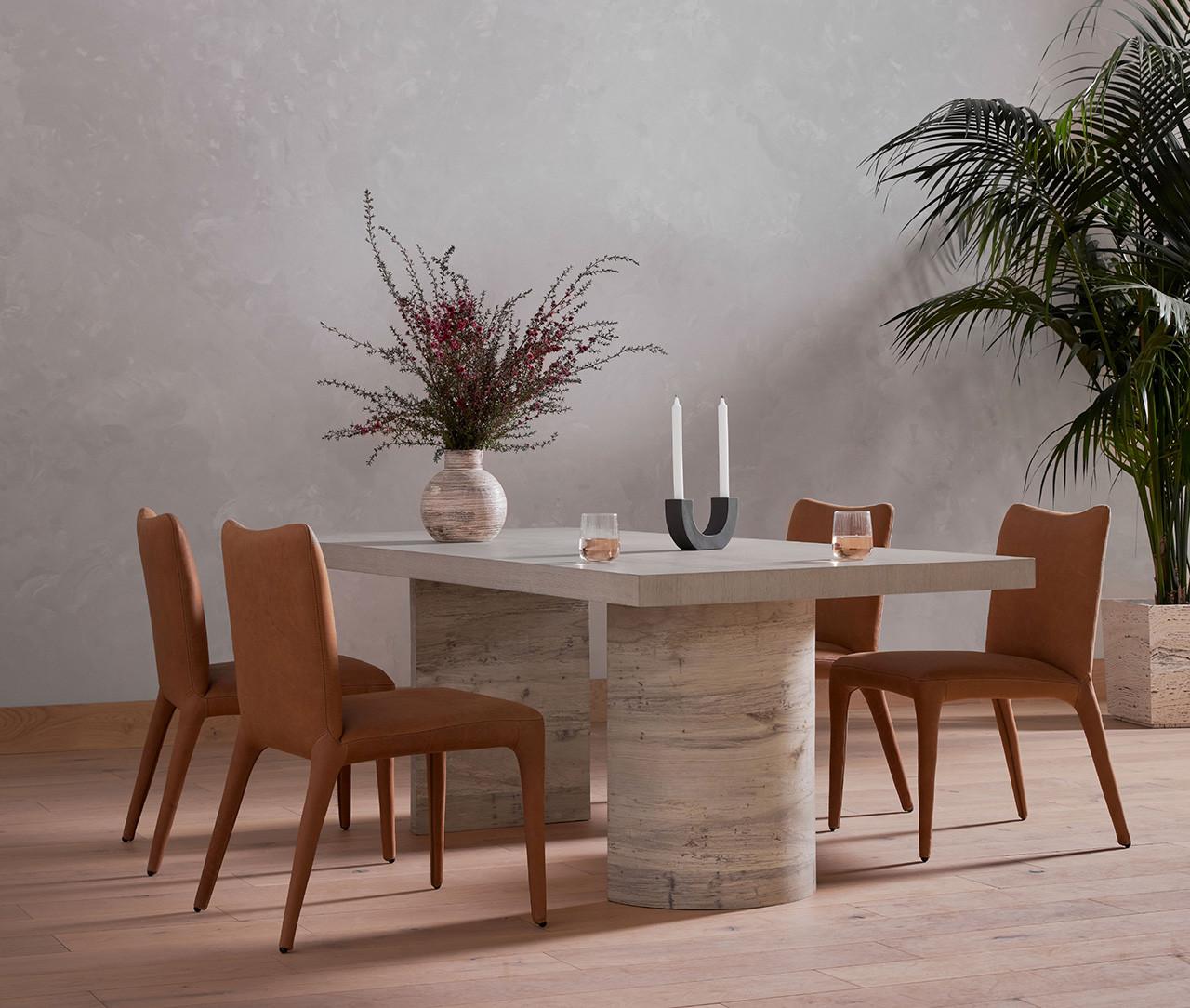 Lyon Dining Table - Pale Oak Veneer