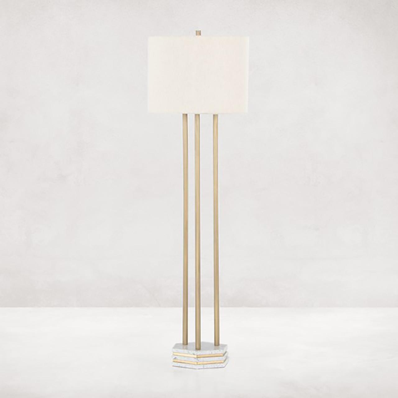 Antony Floor Lamp - Antique Brass