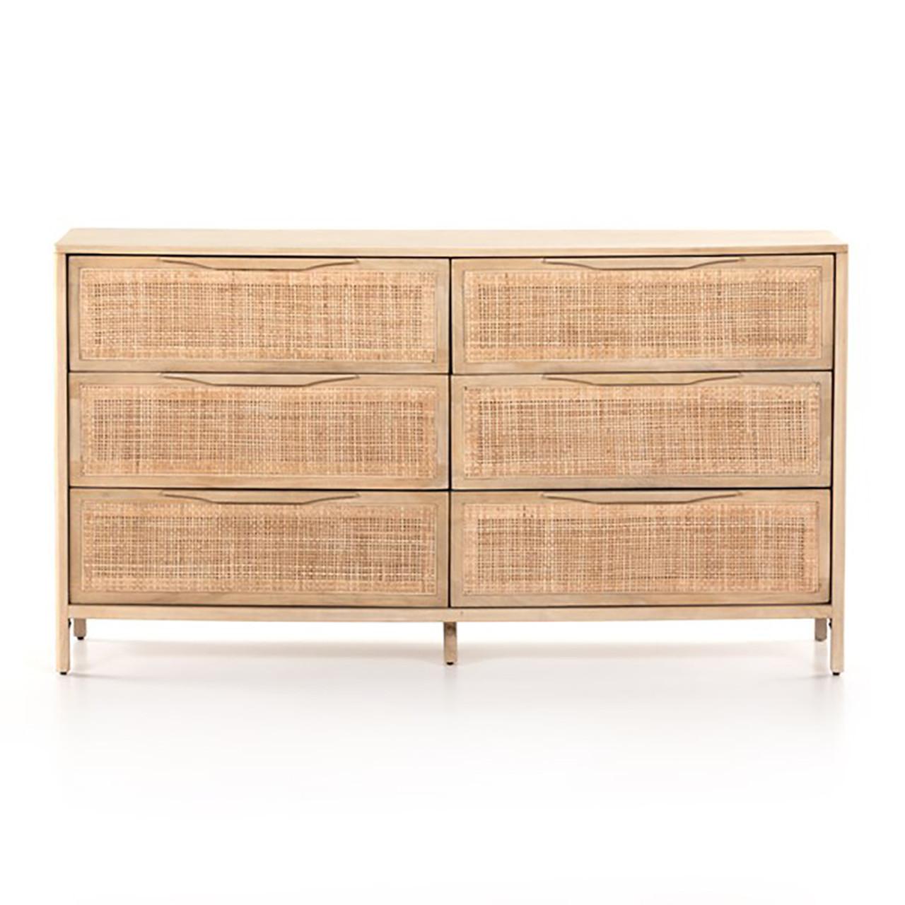 Bondi Cane 6 Drawer Dresser