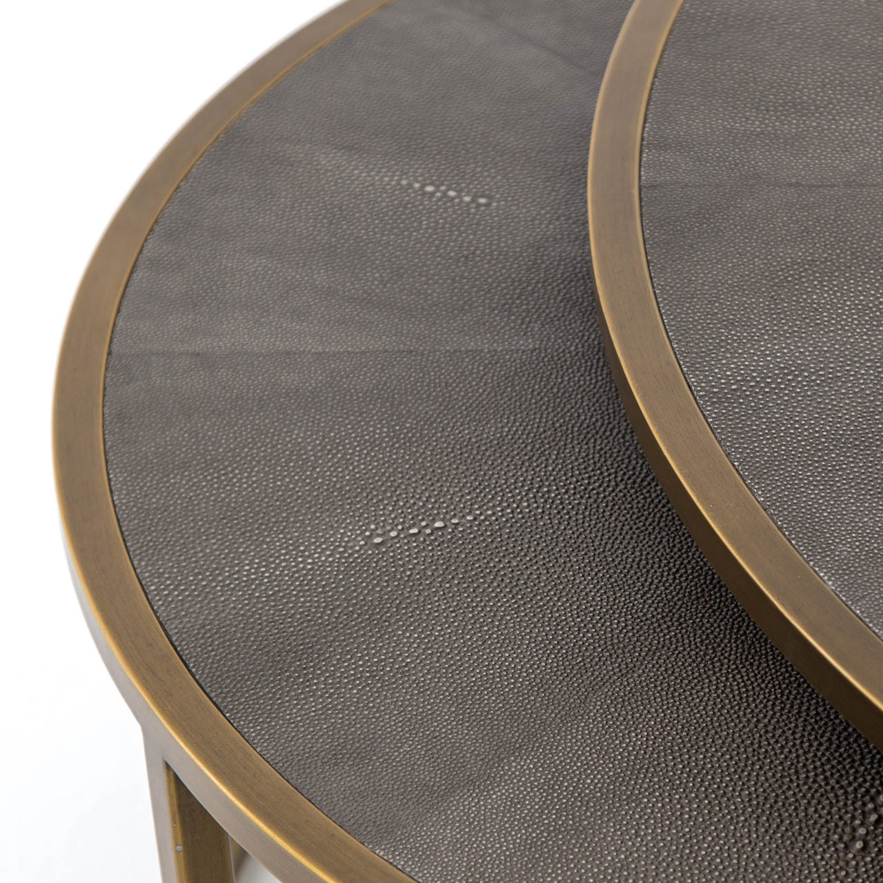 Soleil Nesting Coffee Table - Gunmetal