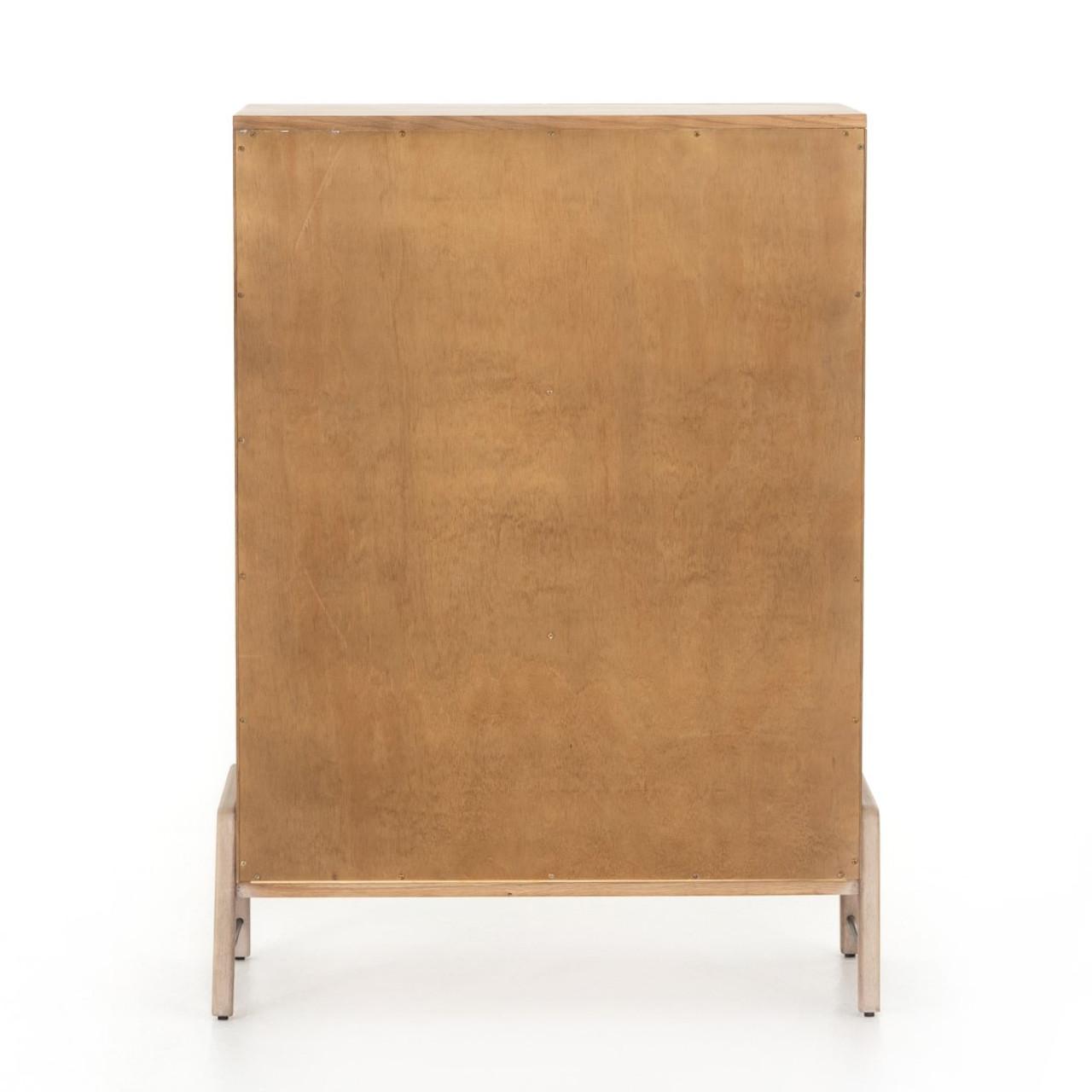 Ruse 6 Drawer Tall Dresser - Yucca Oak