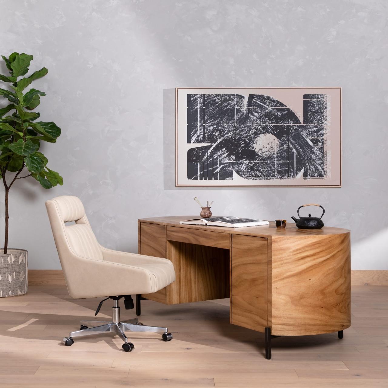 Luke Executive Desk - Gold Guanacaste