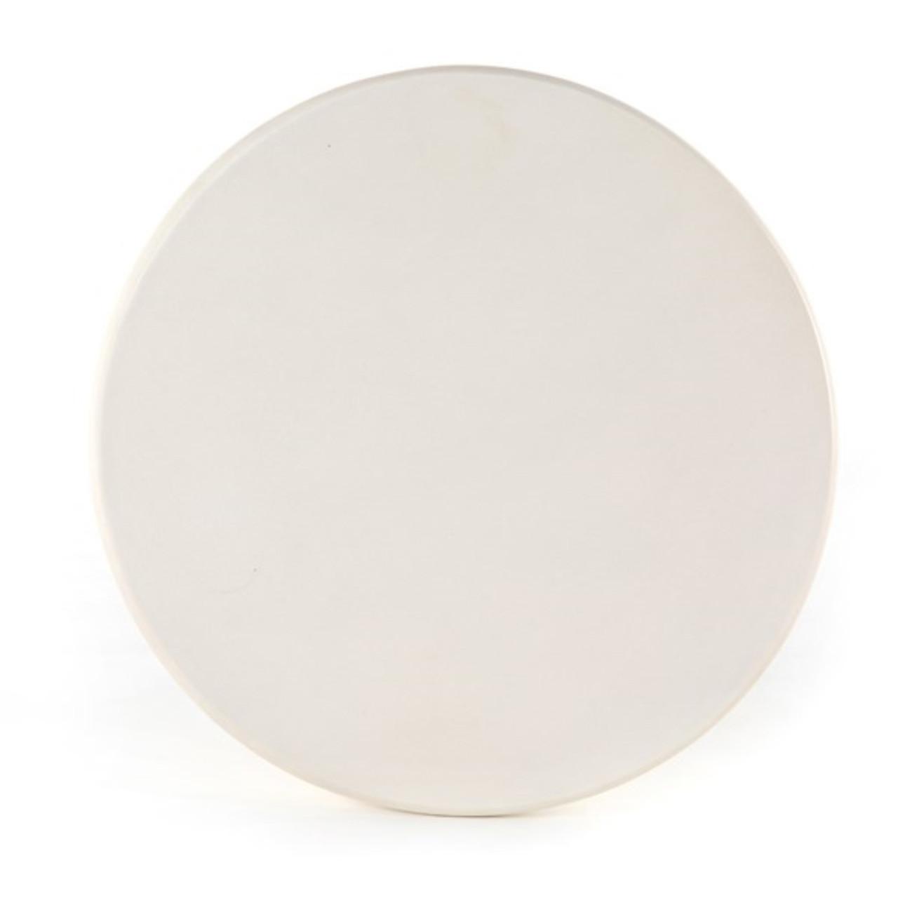 Den End Table - White Concrete