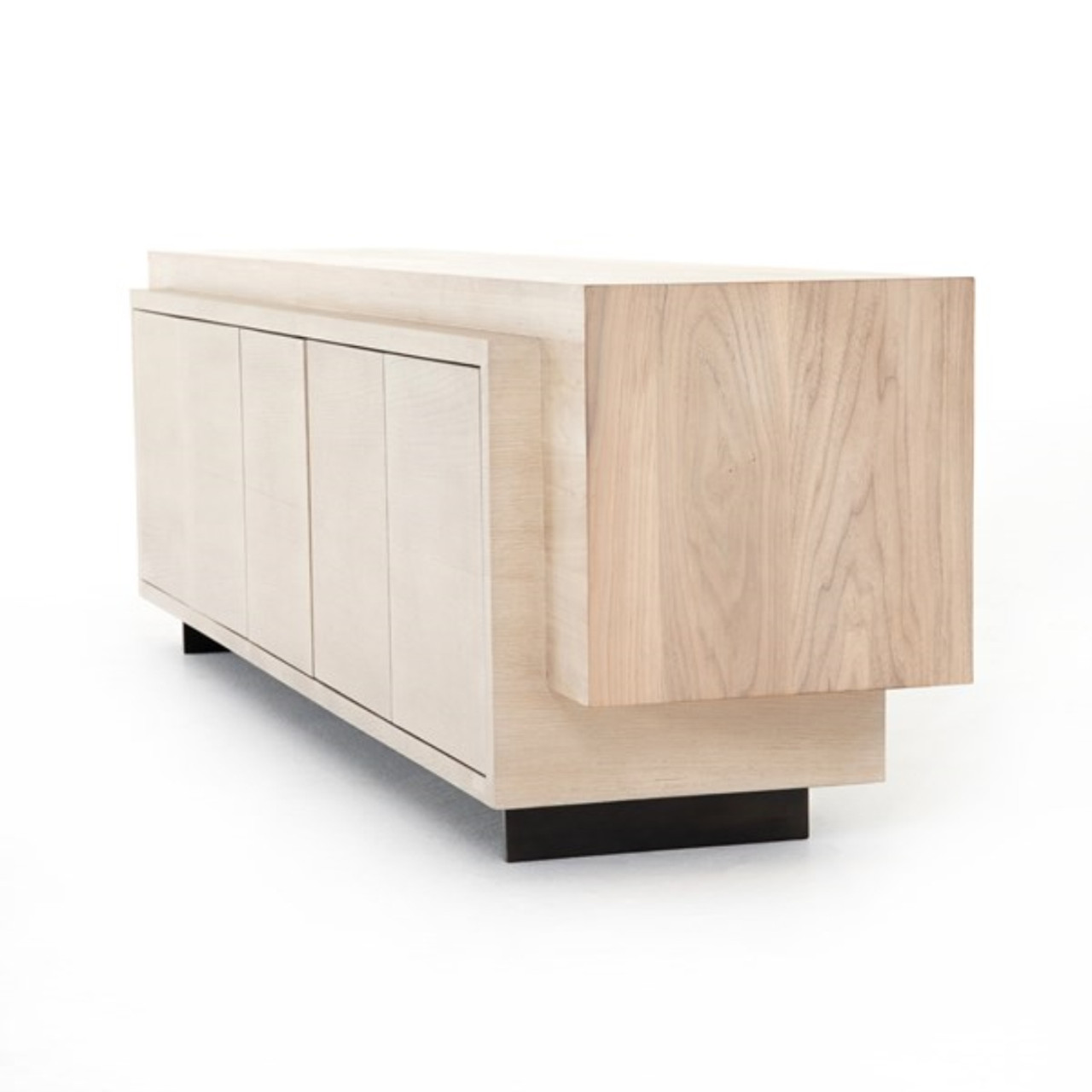 Persey Media Console - White Washed Walnut