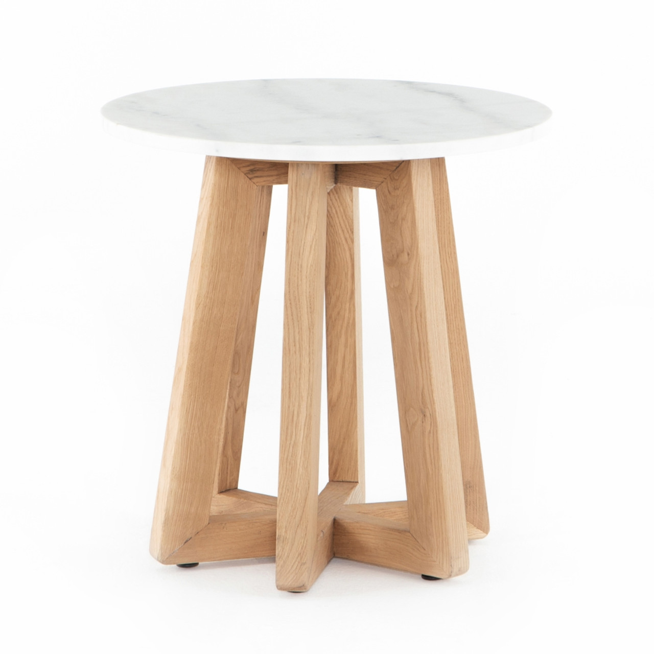 Kerry End Table - White Marble