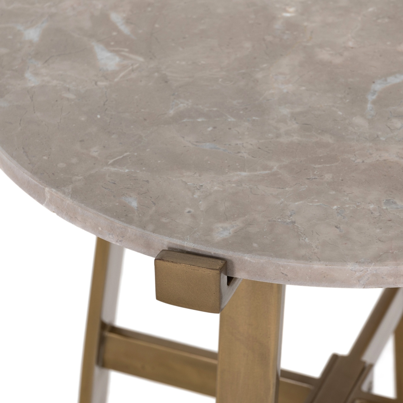 Alise Nightstand - Taupe Marble