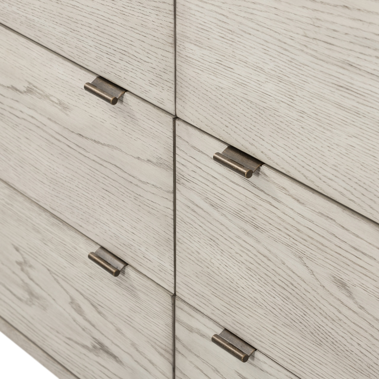 Vienna 6 Drawer Dresser - Vintage White Oak