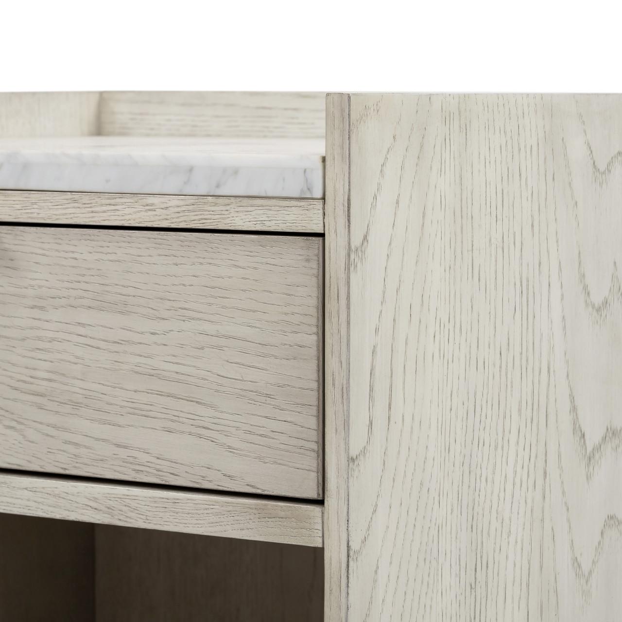Vienna Nightstand - Vintage White Oak