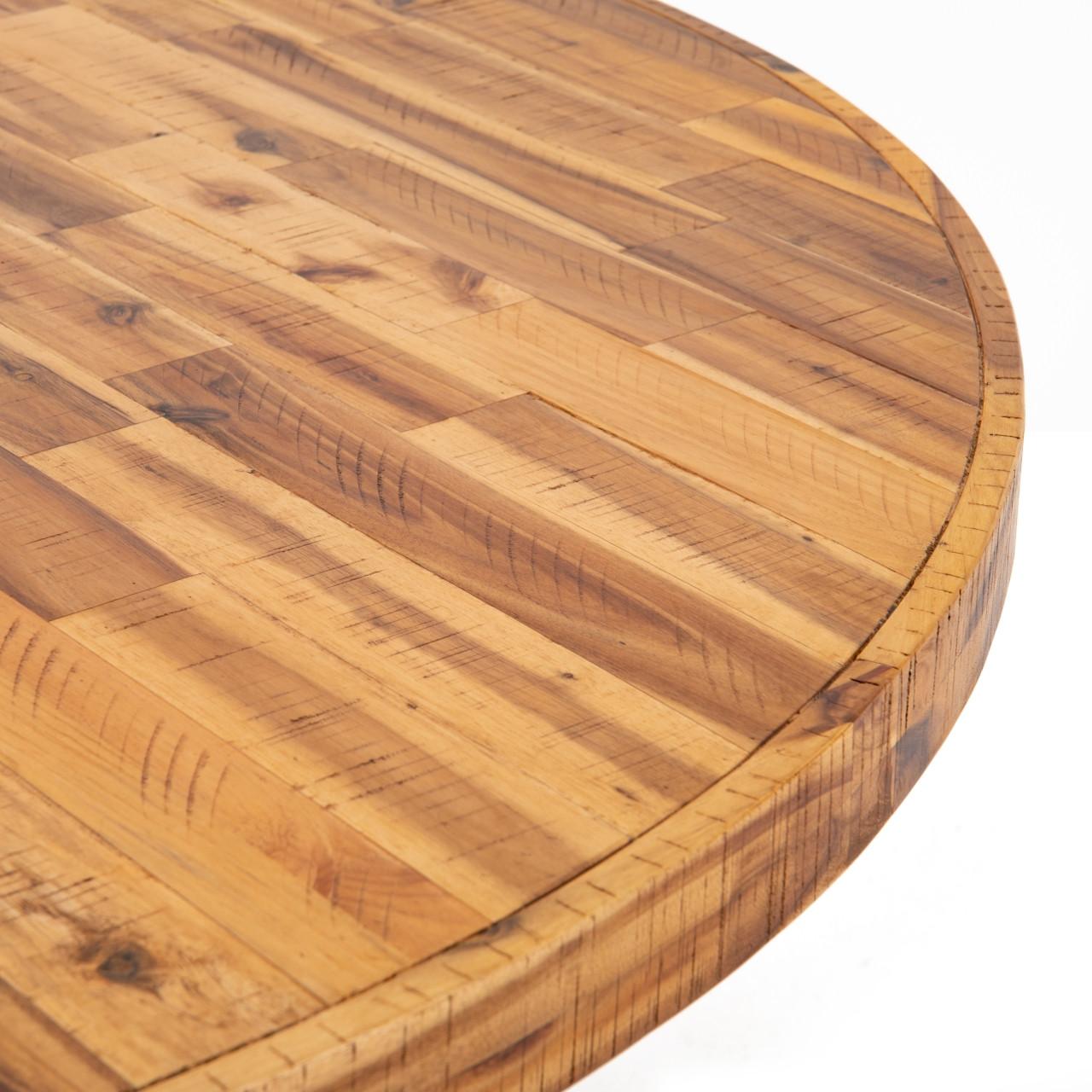 Aketia Round Dining Table - Light Honey