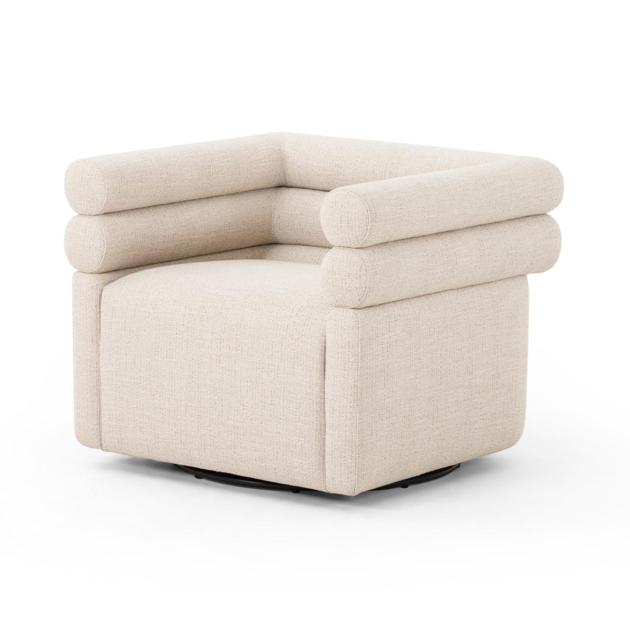 Evelia Swivel Chair - Hampton Cream