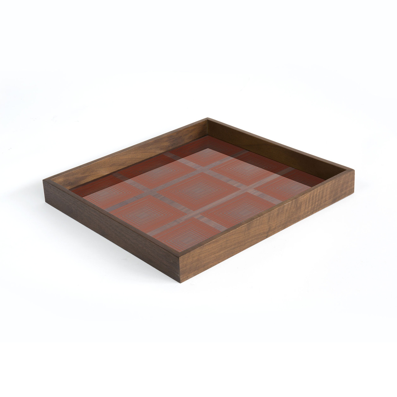 Pumpkin Squares glass tray