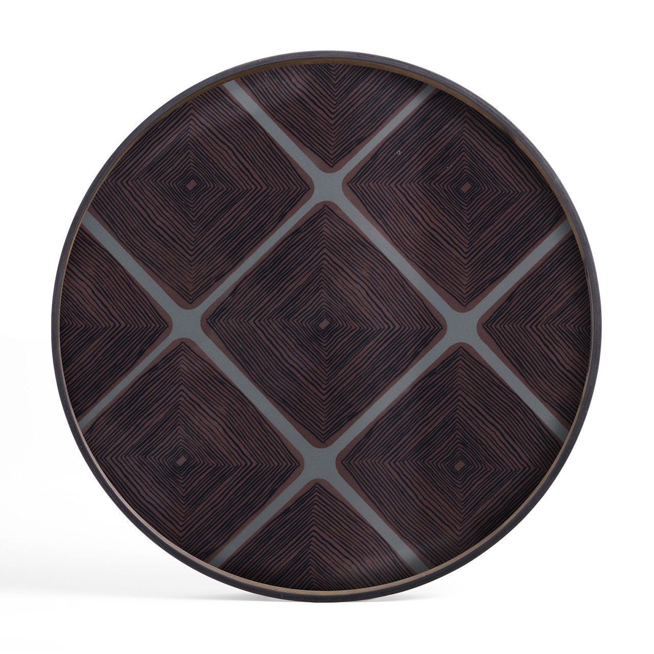 Slate Linear Squares glass tray