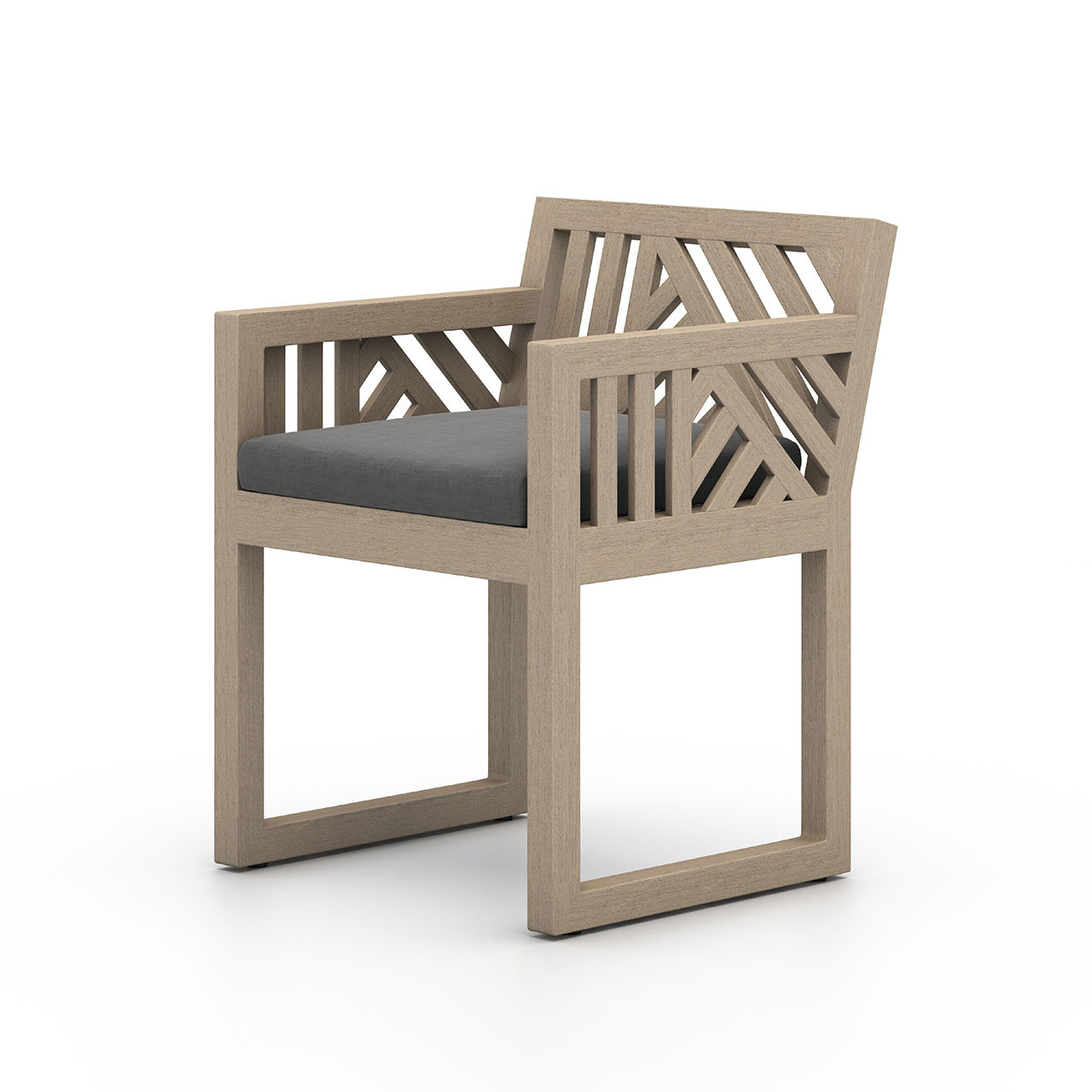 Alvey Outdoor Dining  Arm Chair | Washed Brown