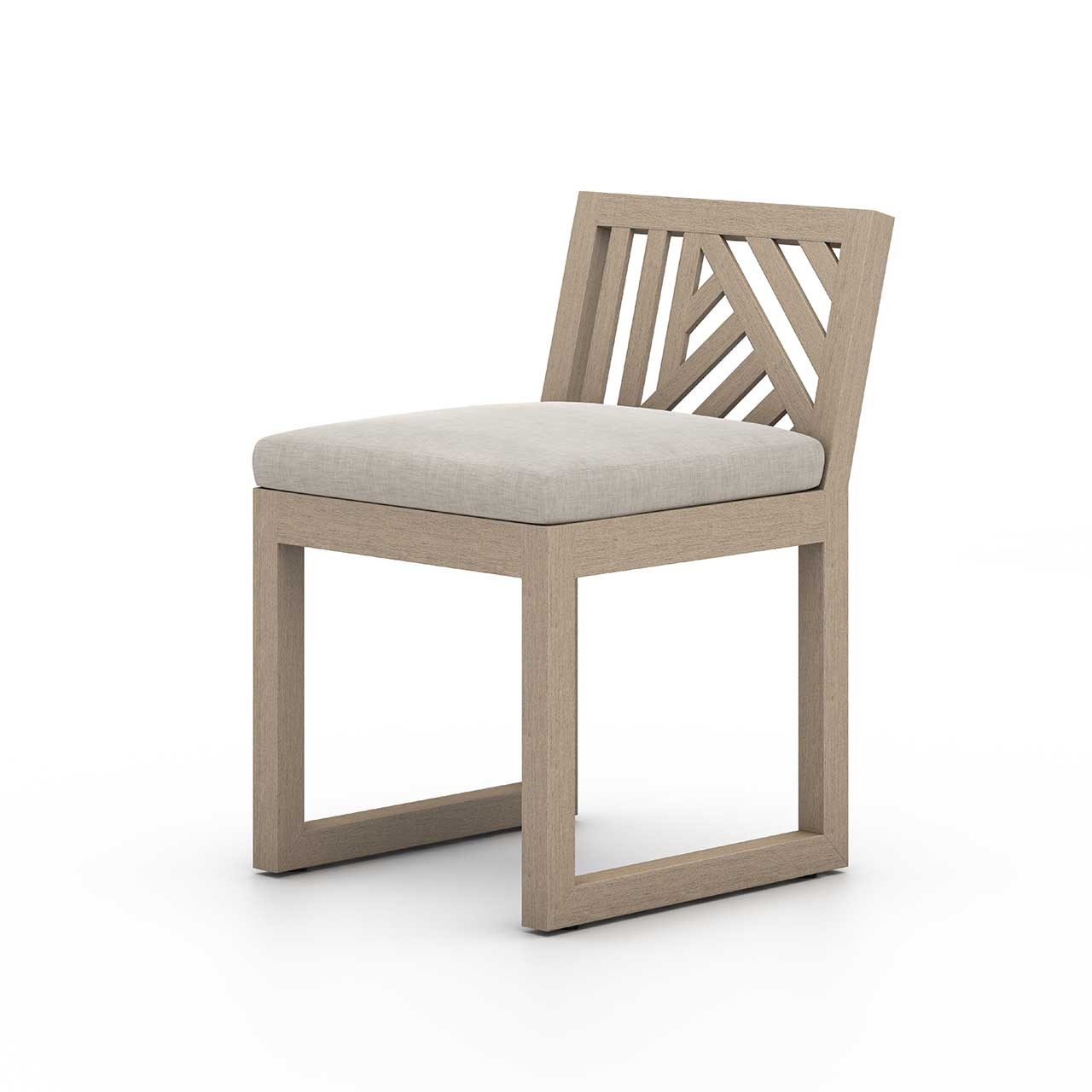 Alvey Outdoor Dining Chair   Washed Brown