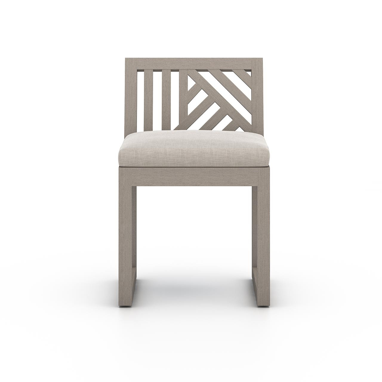 Alvey Outdoor Dining Chair, Weathered Grey