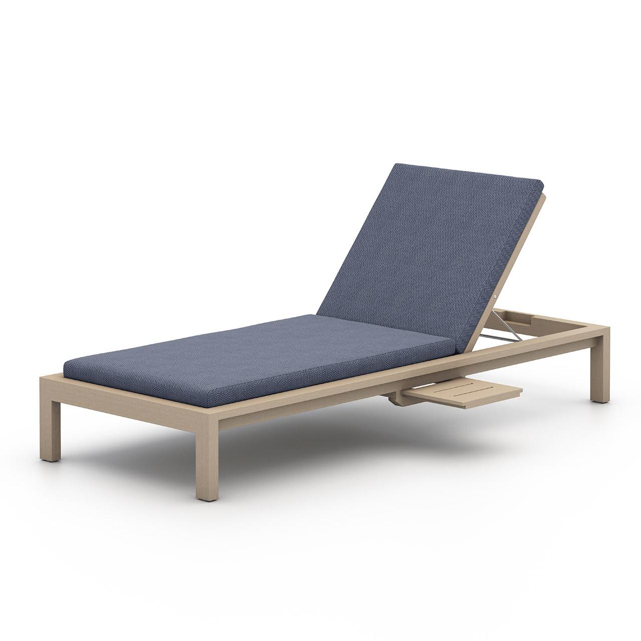 Oceanside Teak Outdoor Chaise   Washed Brown