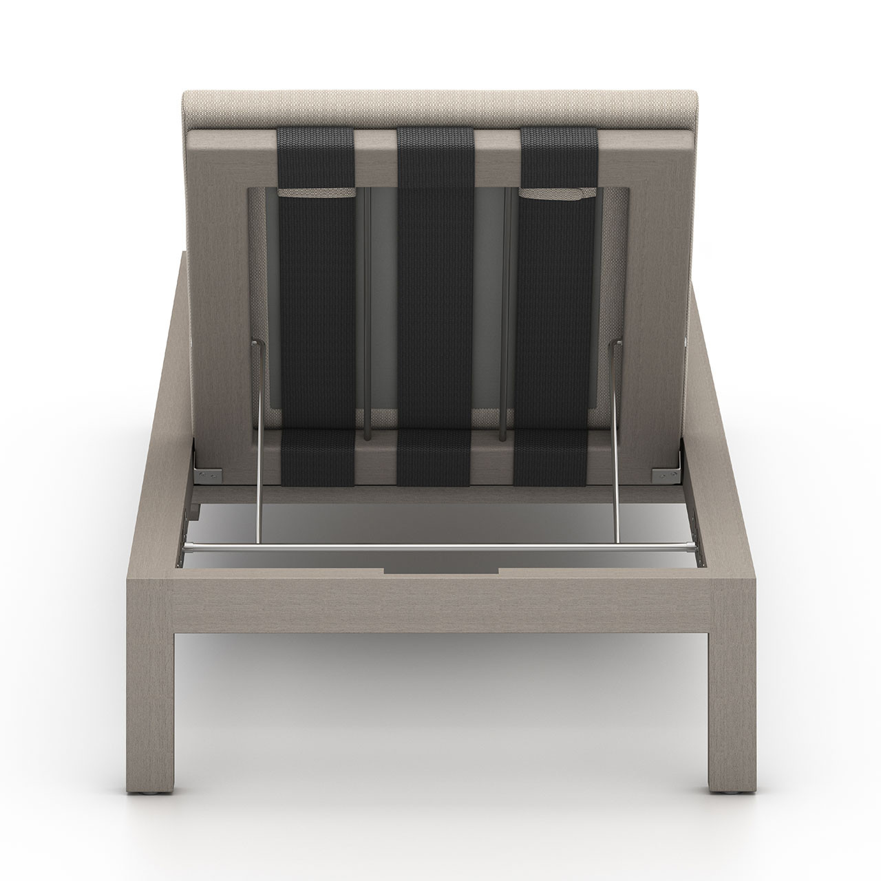 Oceanside Teak Outdoor Chaise |  Weathered Grey
