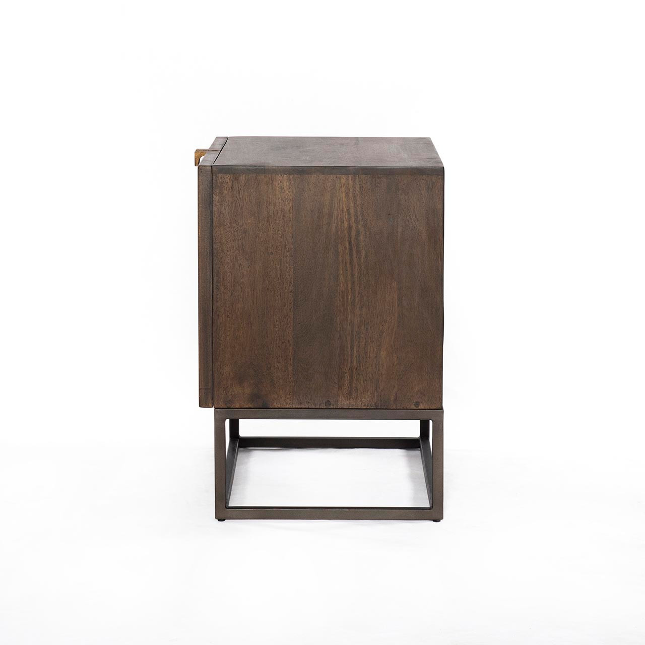 Bauer Cabinet Nightstand - Gunmetal