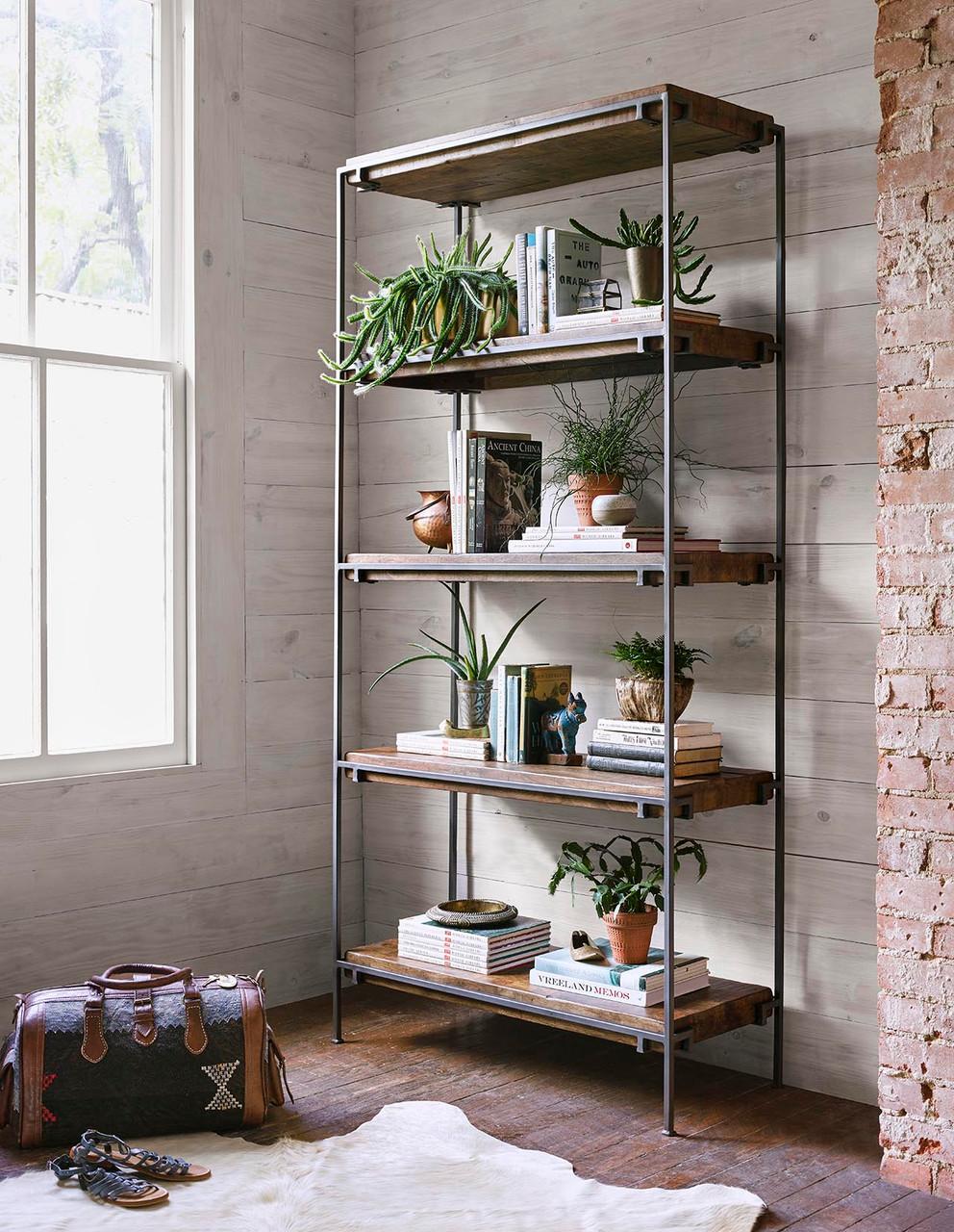 Siena Bookshelf - Gunmetal