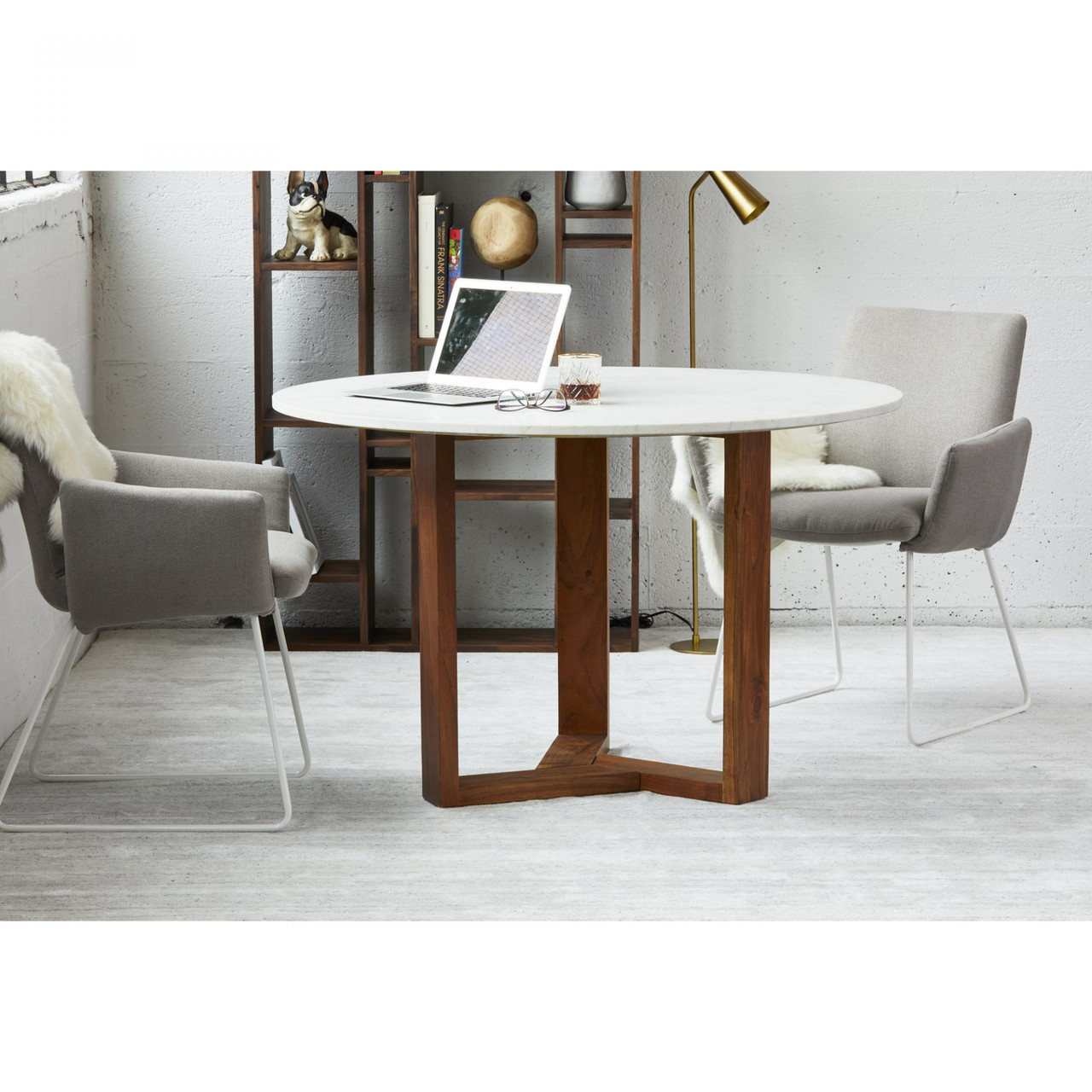 Ovil Dining Table Charcoal Grey