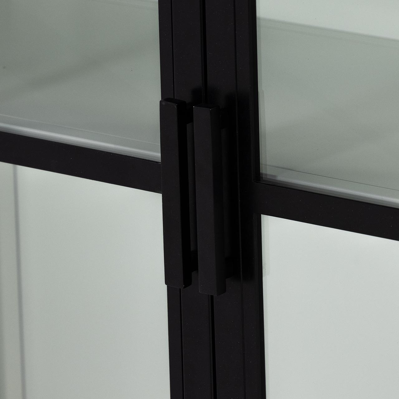Cindy Glass Cabinet - Black