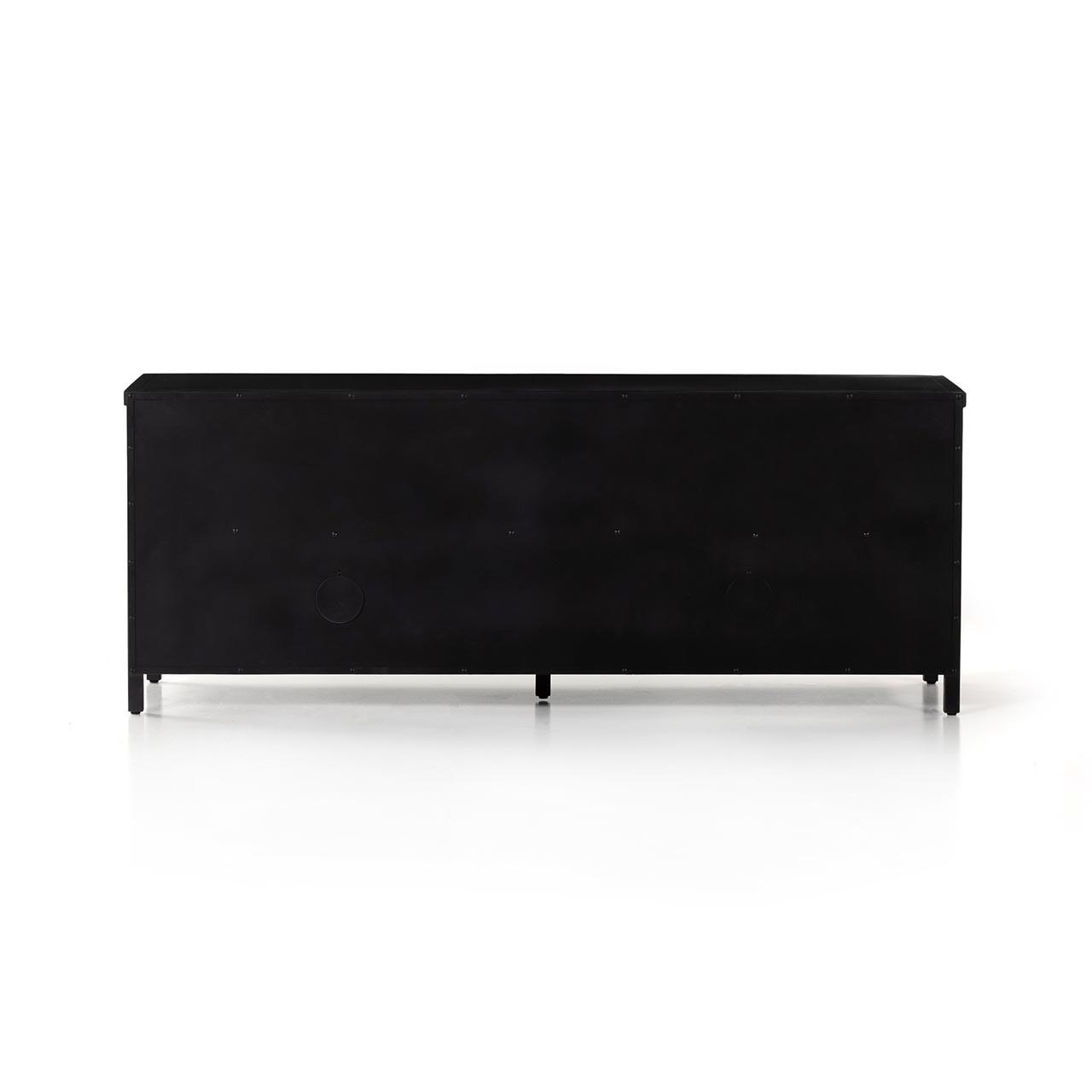 Cindy Glass Media Cabinet  - Black