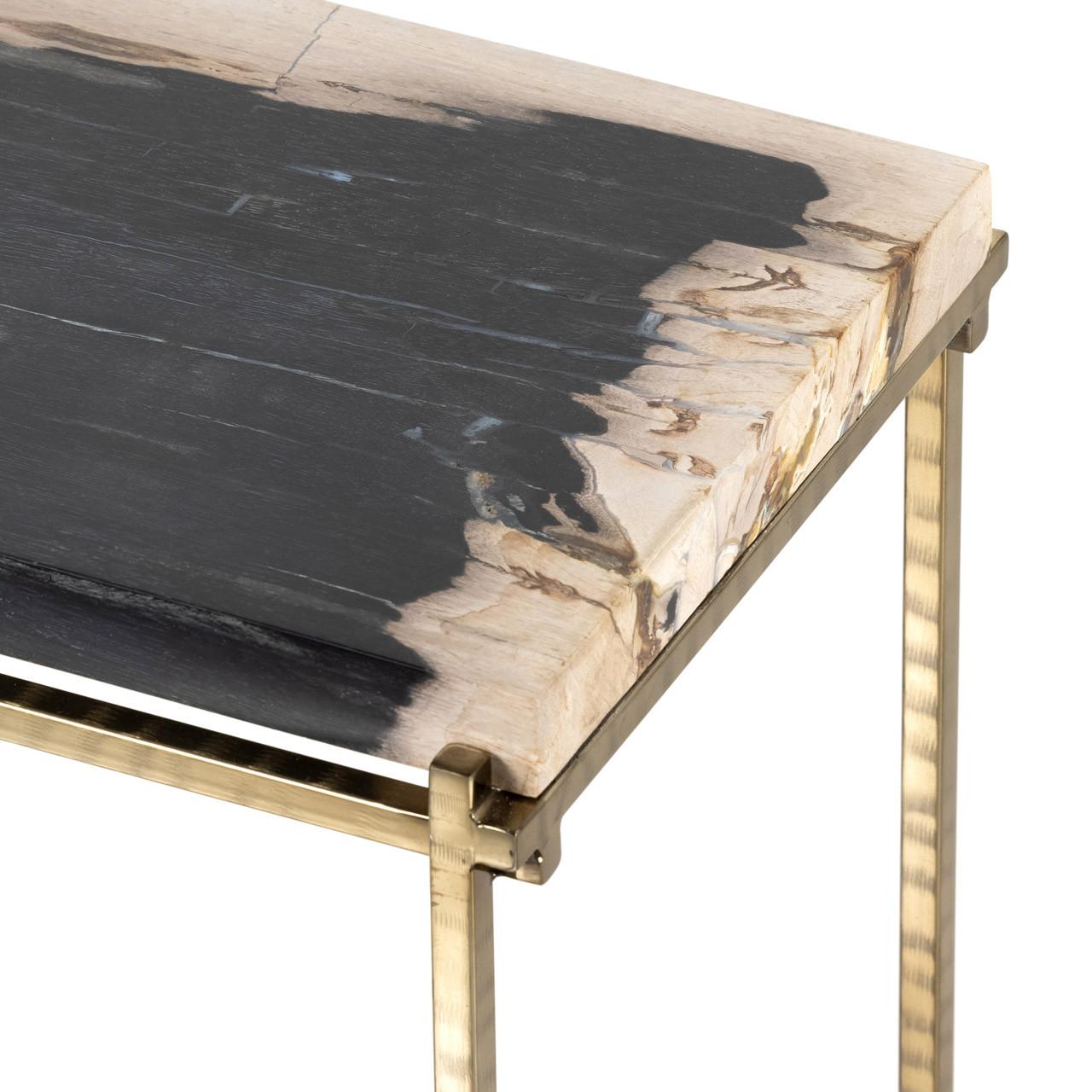 Tie End Table - Dark Petrified Wood