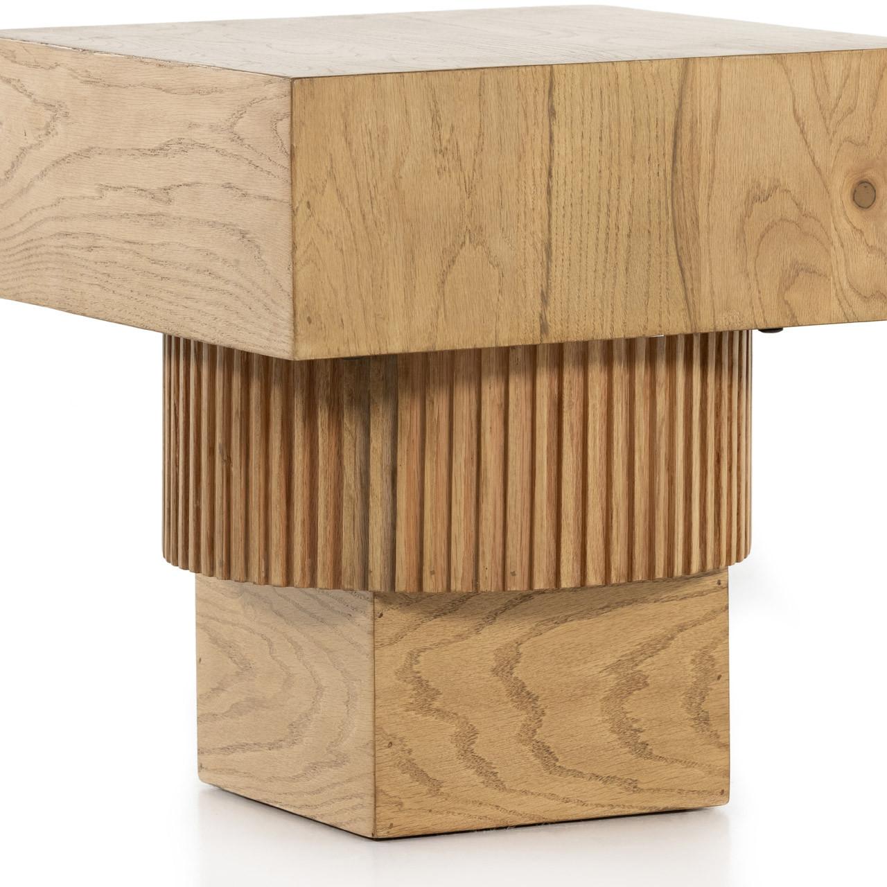 Leo End Table - Honey Oak