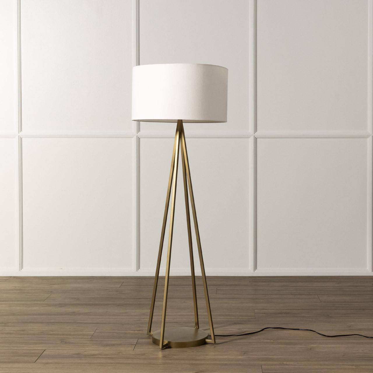Wes Floor Lamp - Antique Brass