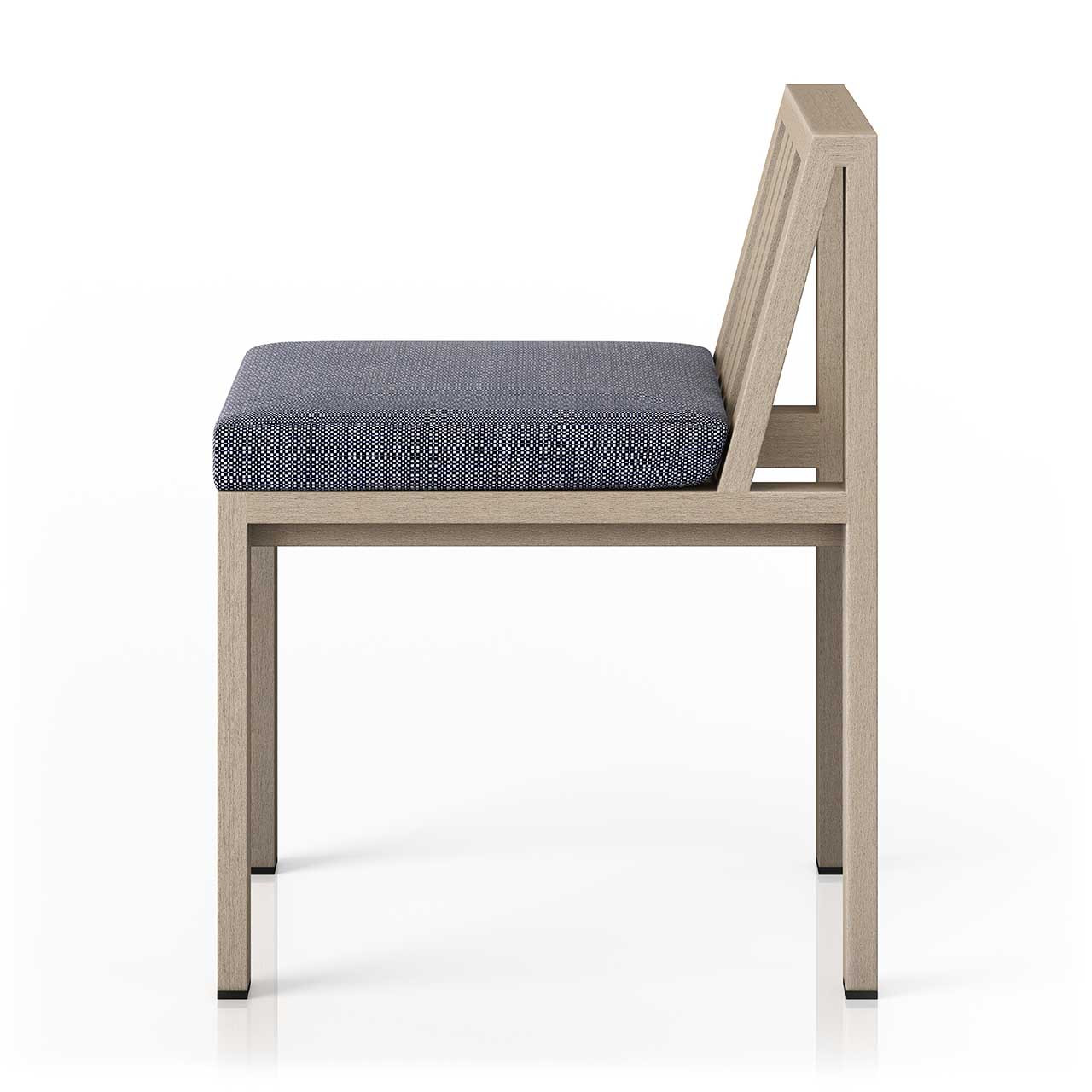 Montel Outdoor Dining Chair Brown + Grey
