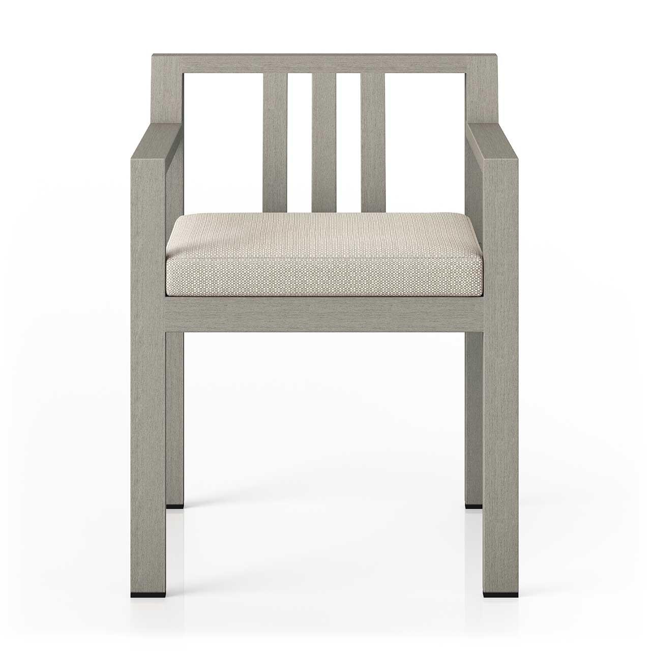 Montel Outdoor Dining Armchair Brown + Grey