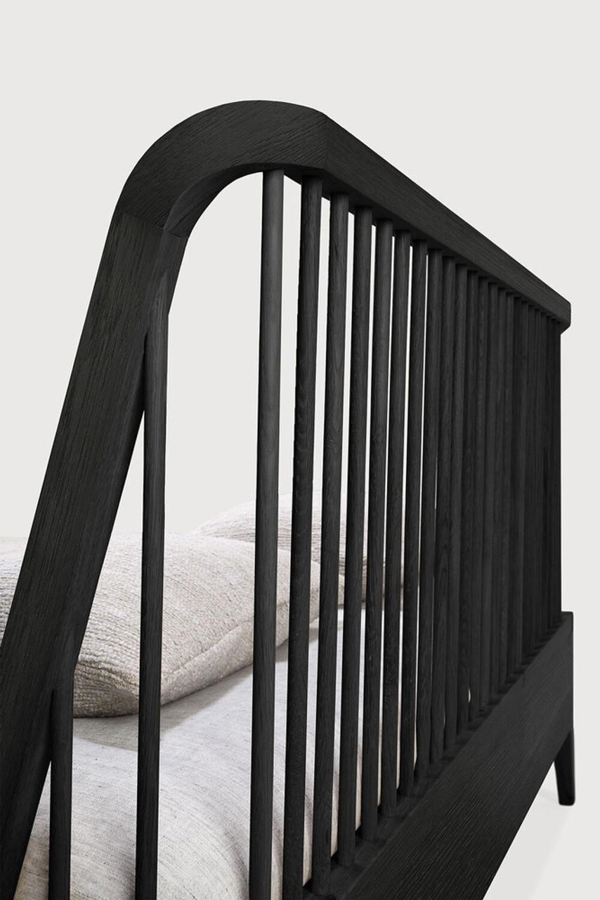 Oak Spindle Black Bed