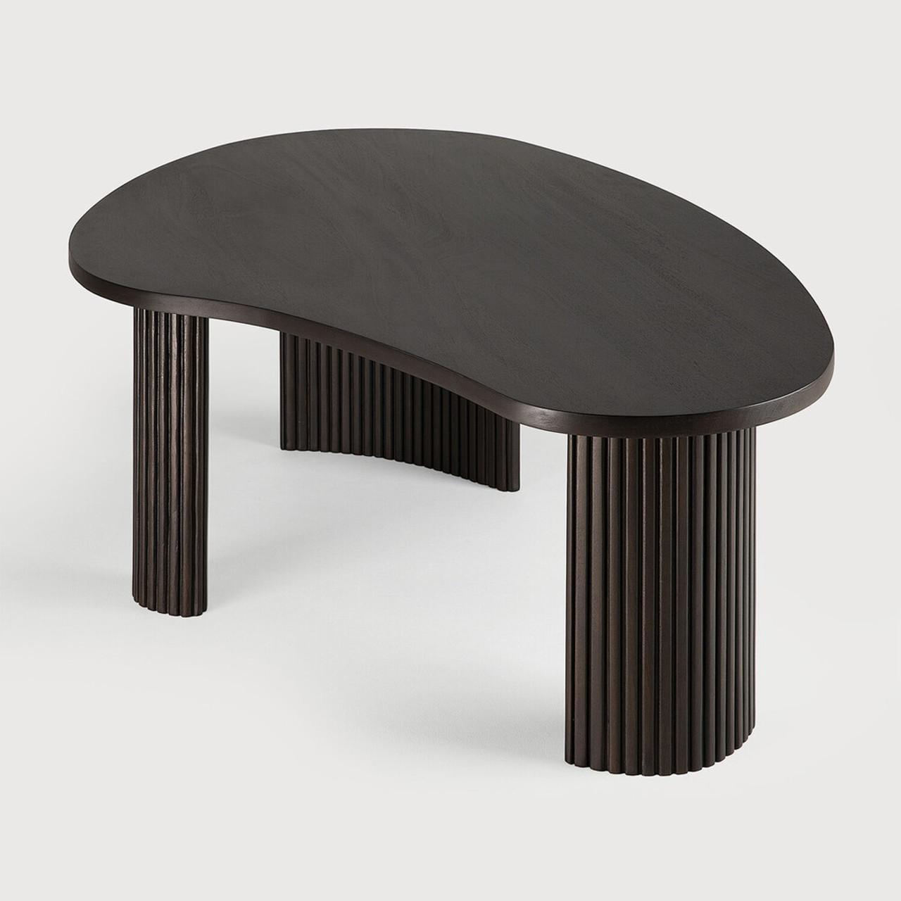 Mahogany Boomerang Dark Brown Coffee Table