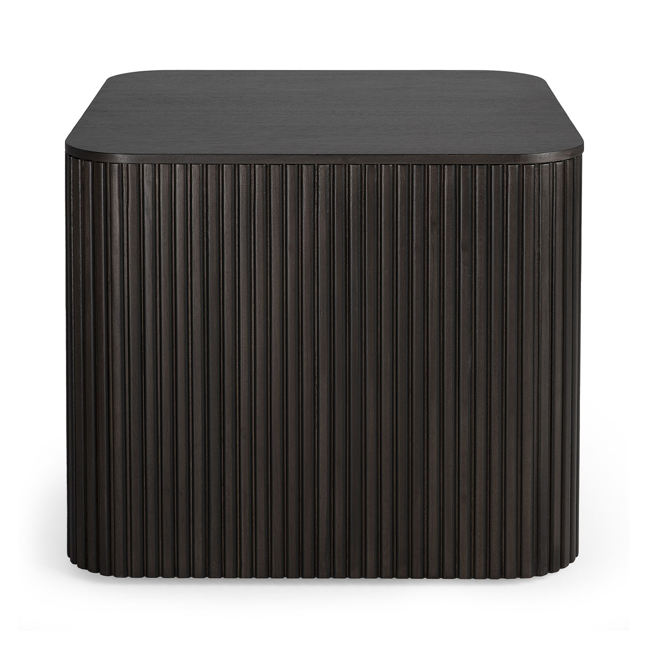 Mahogany Roller Max Dark Brown Square Side Table