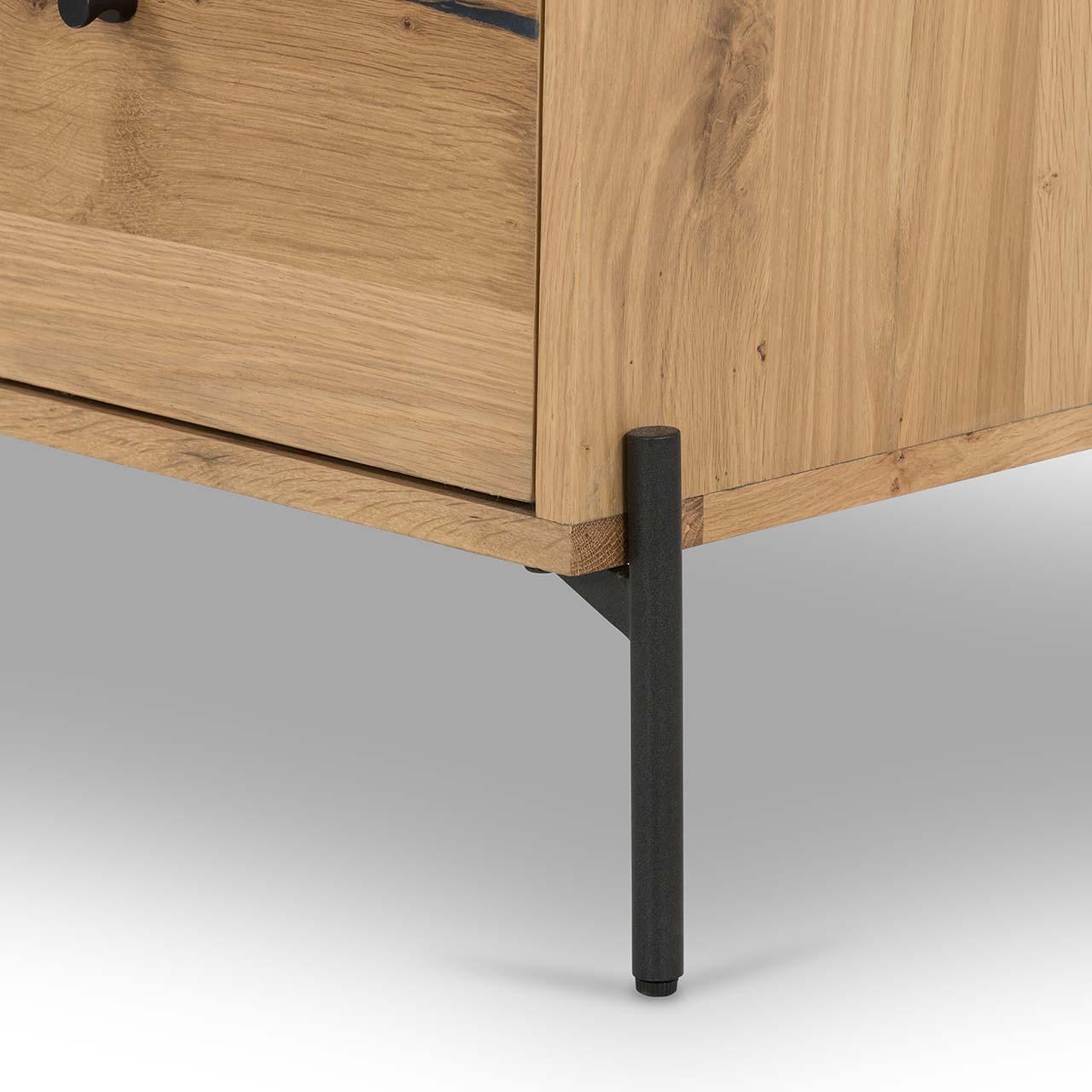Enreo Filing Cabinet - Light Oak Resin