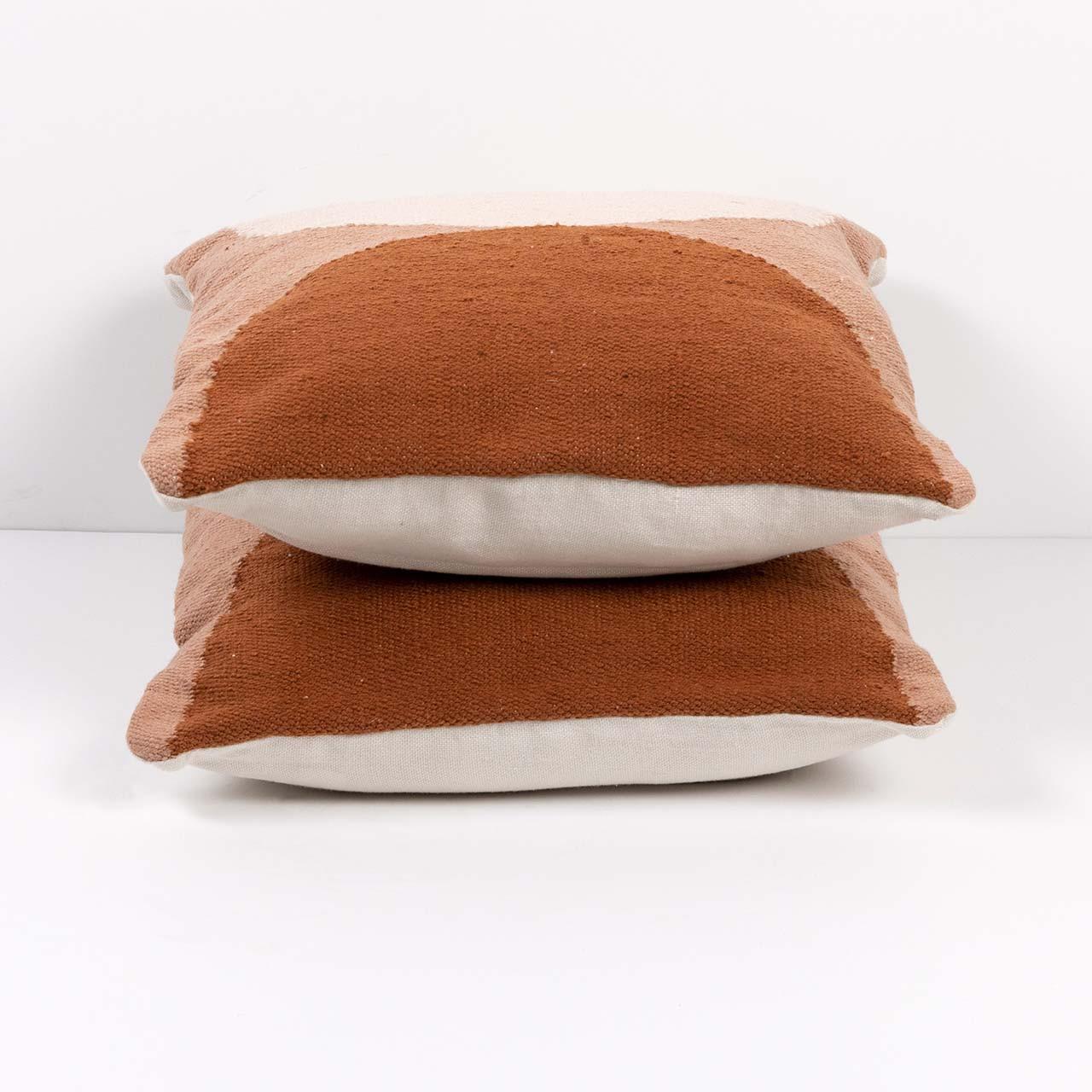 Half Circle Outdoor Pillow   set of 2