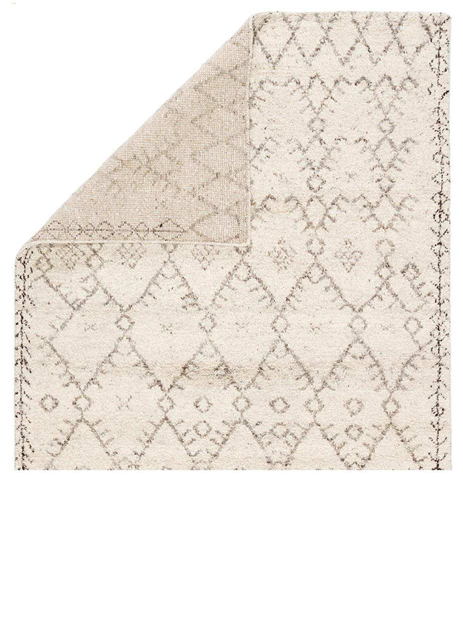 Marrakesh Wool Area Rug - Cream