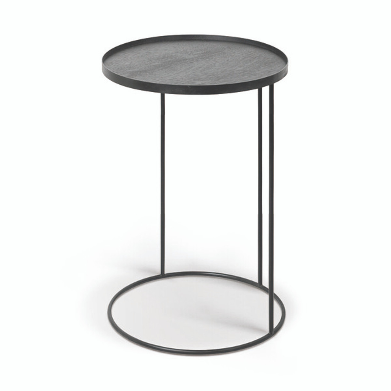Round Tray Metal Frame Side Table Clutch Modern Free Shipping