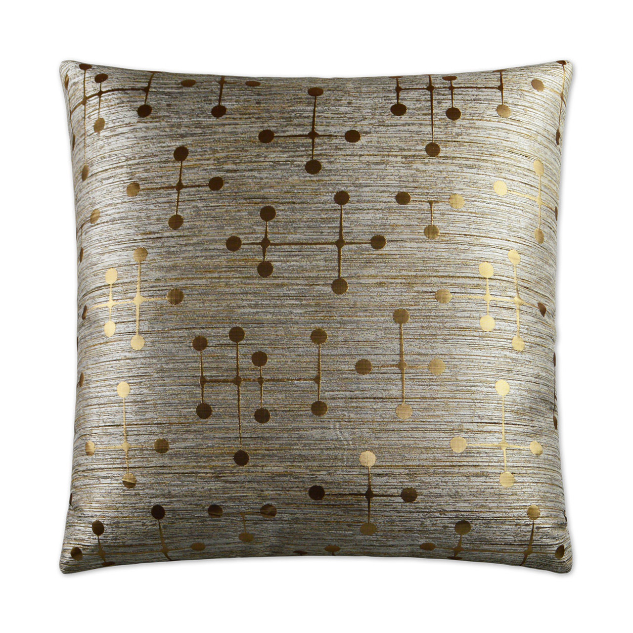 Morse Gold Throw Pillow