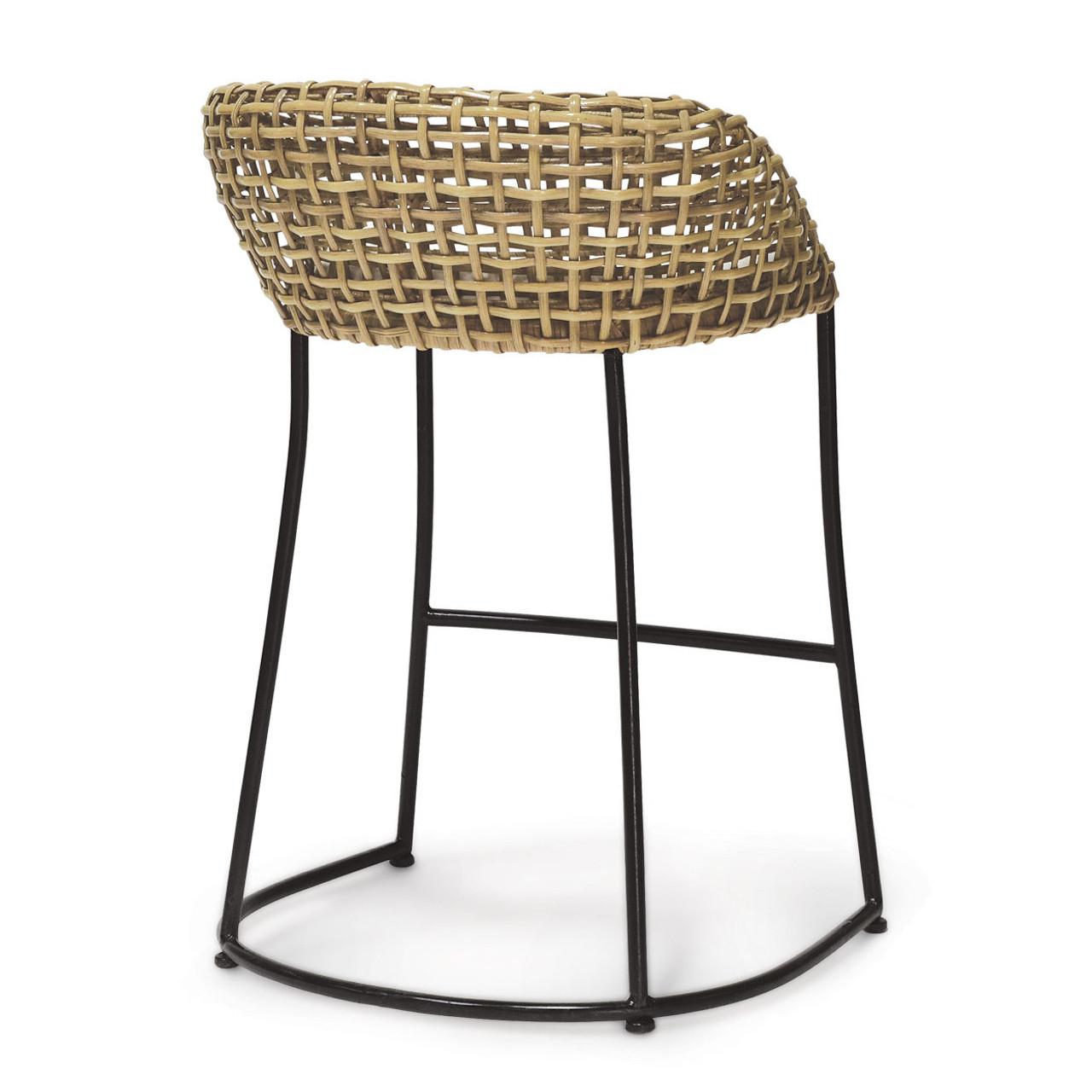 Rattan Weave Counter Barstool