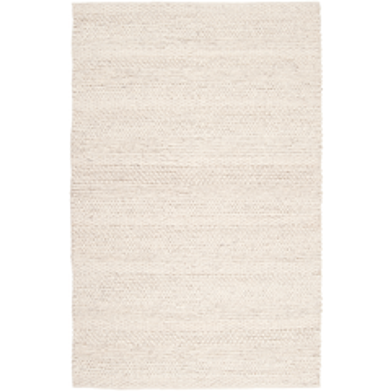 Knitted Natural Wood Tahoe Area Rug - Ivory