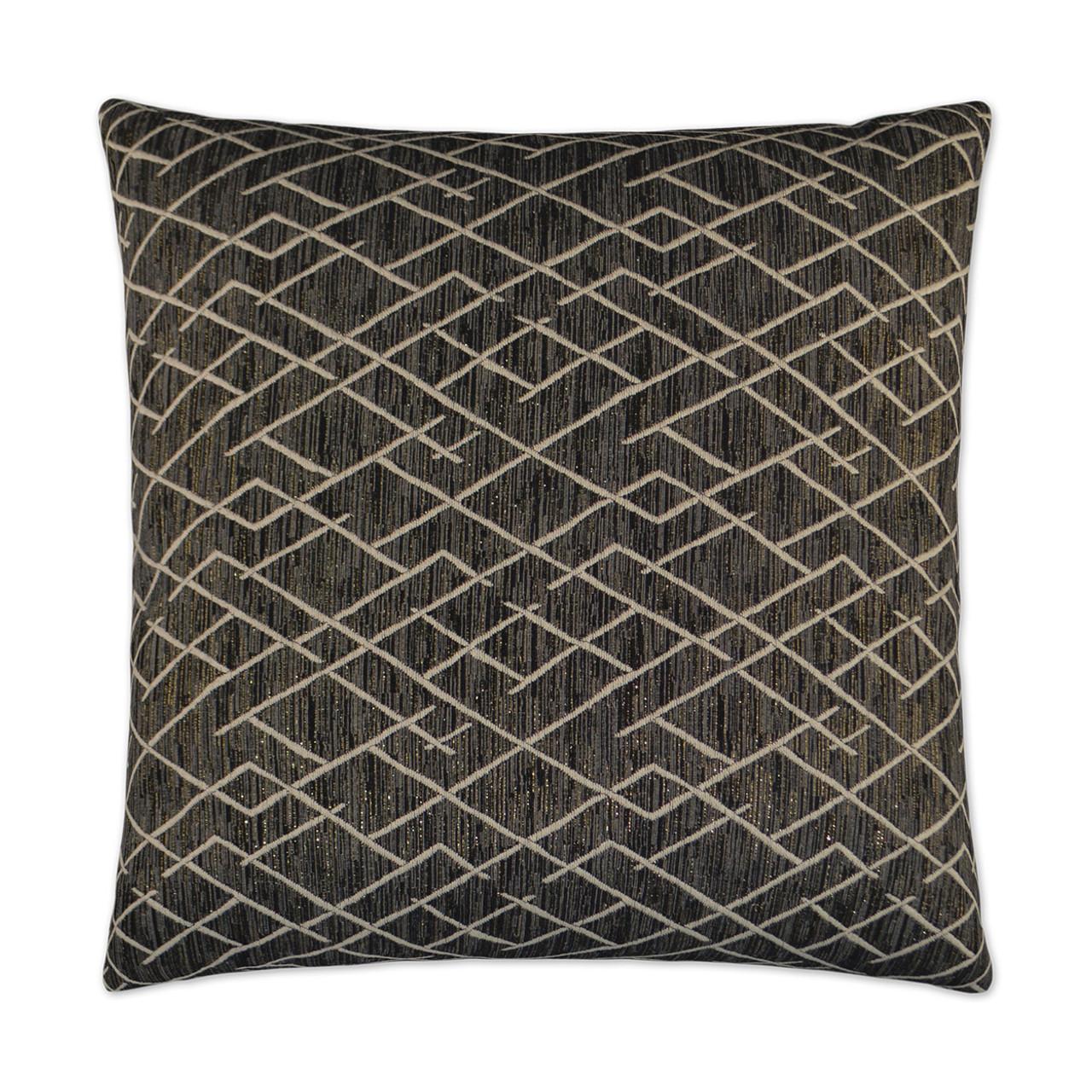 Ritz Black Throw Pillow